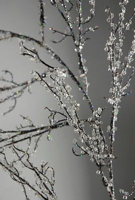 """How to make iced branches, or """"ice"""" anything for winter. - Click image to find more Holidays Pinterest pins"""