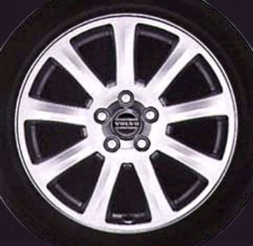 Interceptor 17 x 7 Volvo #9162393 (color 936 Bright Silver) also Volvo #30748781 (color 941 Polished), Offset 49mm, 9.8kg, stamped 8634739 and 30748781 respectively.