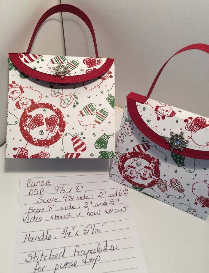 Well, I tried my first Facebook live today and posted a video on how to make these little Christmas purses.  This is a great way to use up o...