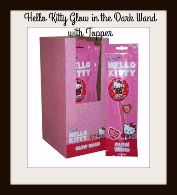 HELLO KITTY WAND - Glow in the Dark with Topper - Kids Toys Party NEW