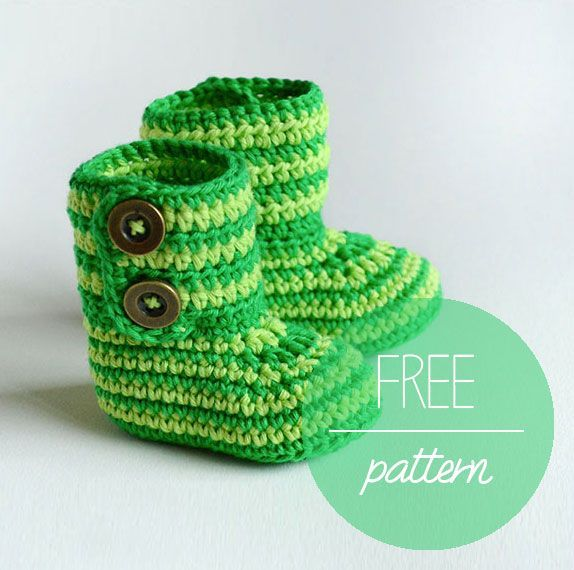 Croby Patterns | GREEN ZEBRA – Crochet Baby Booties FREE