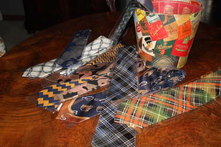 My 70s Saint Laurent Valentino ties (pure silk)