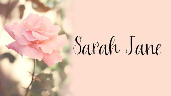 Sarah Jane by OnTheSpotStudio on Creative Market