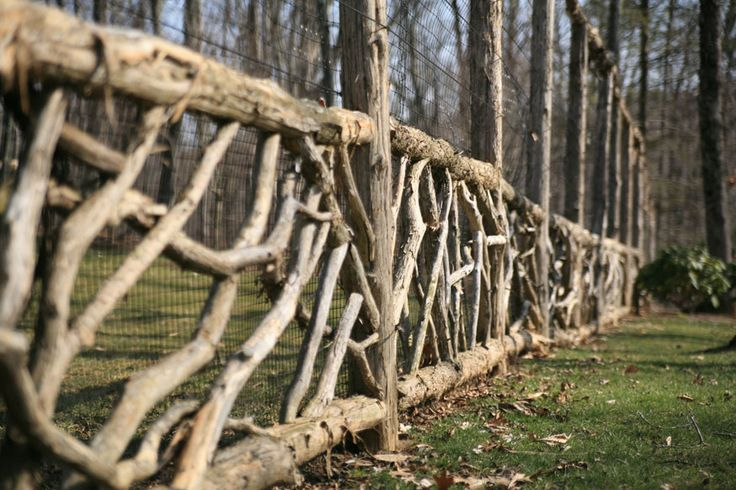 I can see this as a rustic dog fence for a log home.