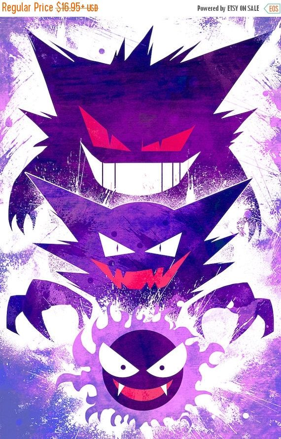 30% OFF WOW Pokemon Gastly Evolution Poster
