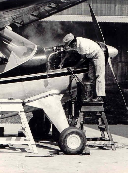 A Peruvian apprentice mechanic working on a Helio Courier at the Yarinacocha hangar, probably around 1965. #ThrowbackThursday www.jaars.org