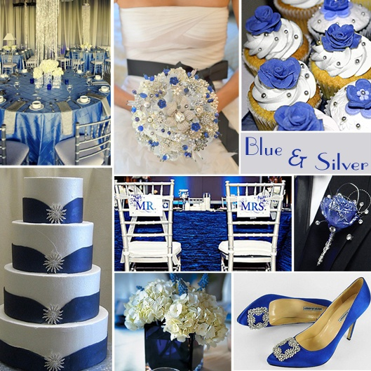 Blue and silver a great color choice, for weddings, especially for winter, although it works great for spring and summer, too. It is an elegant, somewhat formal combination.