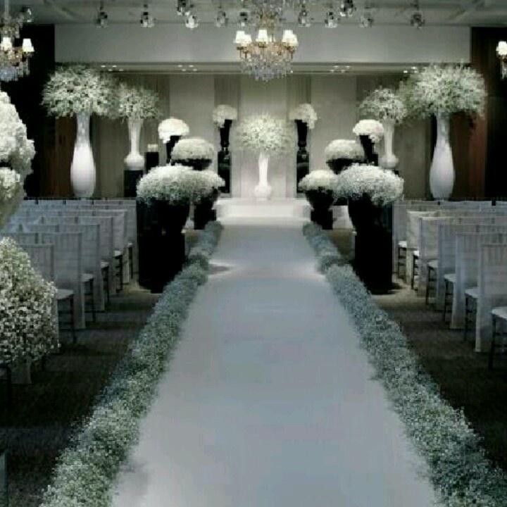 #wedding #ceremony #decor #gyp Wonderful Black And White