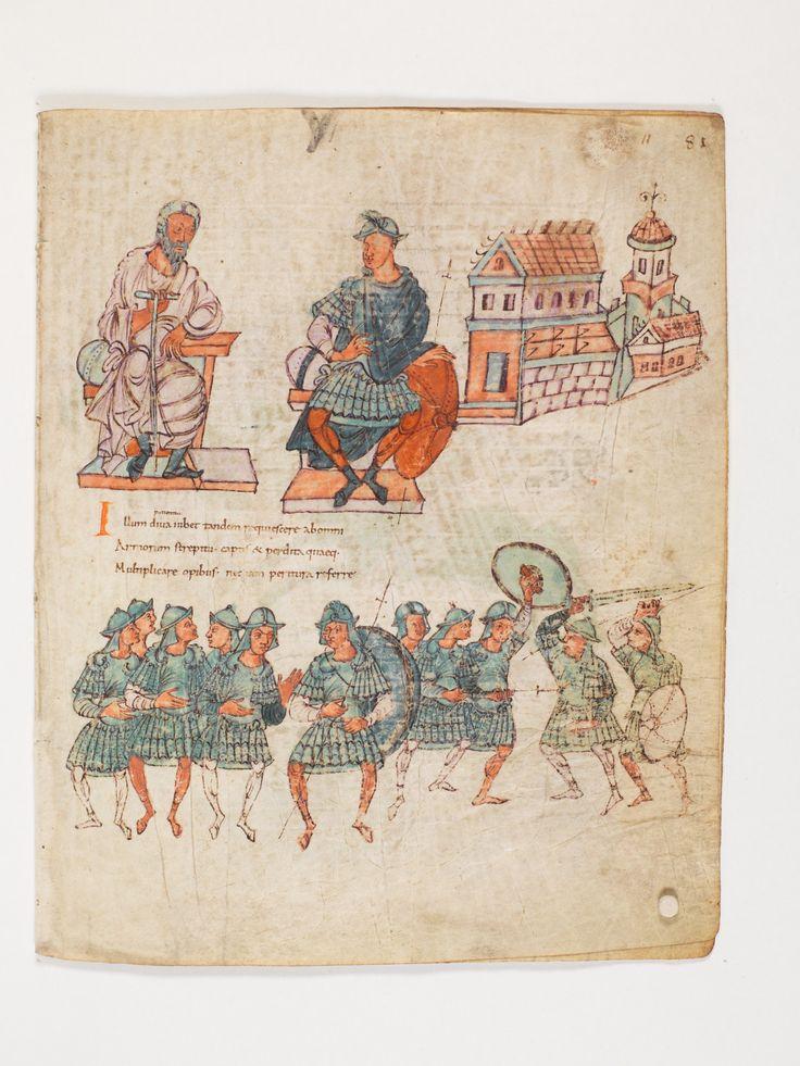 Bern, Burgerbibliothek, Cod. 264, Prudentius, Carmina, p.81, region of Lake Constance, around 900