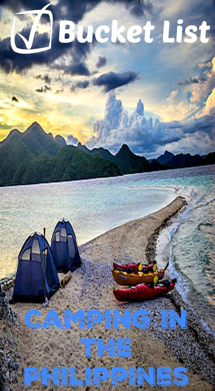 Camping in the Philippines is a Bucket list check! Waking up to the sounds of the waves crashing on the remote islands beach where the closest person is miles away. We grabbed our kayaks and started off on our 7 day sea kayak adventure in the Philippines. This is something that should be on anyone's bucket list! Read about the full adventure at http://www.divergenttravelers.com/headed-photosafari-palawan/