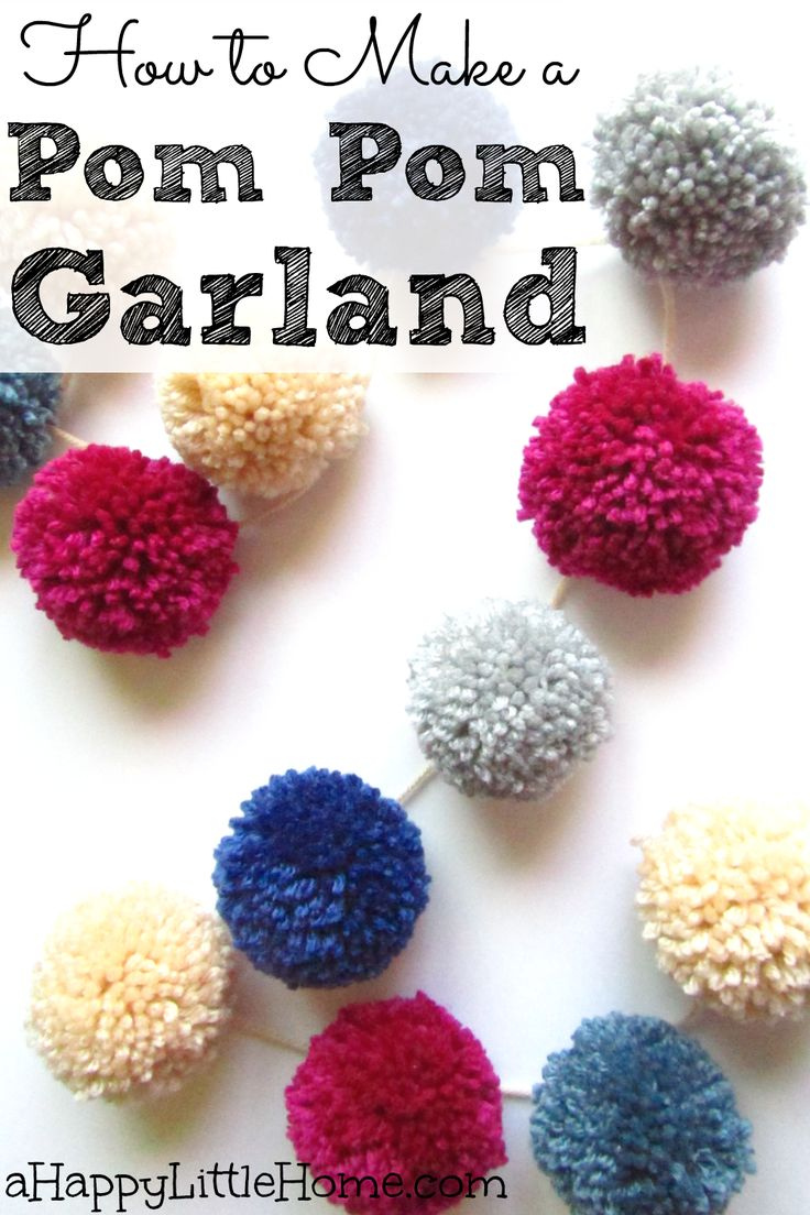 This DIY pom pom garland would make a beautiful decoration! I'd love to make these to hang above the fireplace as a holiday decoration or to decorate for the season. Now that I know how to make a pom pom garland, I can't wait to make my space prettier with some pom pom project cheer!