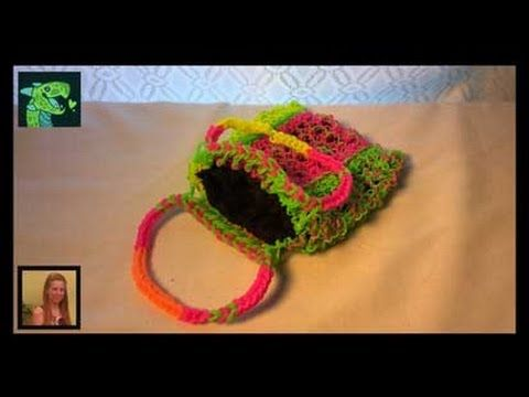 LINING a Lacy Dragon Purse or ANY Rainbow Loom Purse. Designed by Cheryl Mayberry. Click photo for YouTube video. 09/07/14.