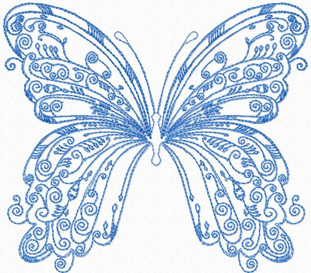 free machine embroidery butterfly