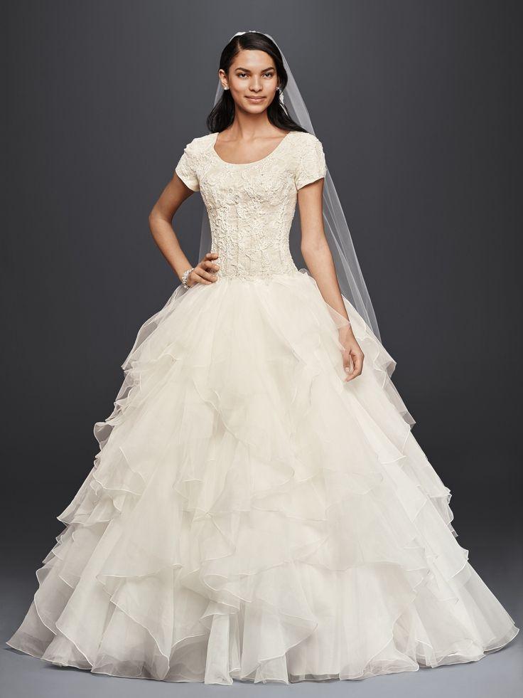 17 best images about oleg cassini wedding dresses on for David s bridal princess wedding dresses