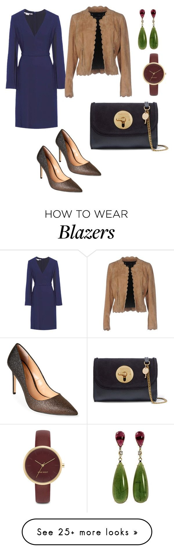 """""""Blue dress so chic"""" by jalepe on Polyvore featuring STELLA McCARTNEY, Barbara Bui, Daya, Nine West and See by Chloé"""