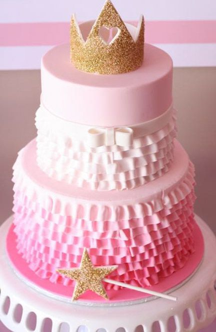 Pink Ruffle Cake for your princess