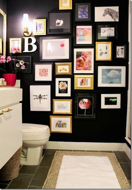 High Drama Black Bathroom Makeover » Curbly | DIY Design Community