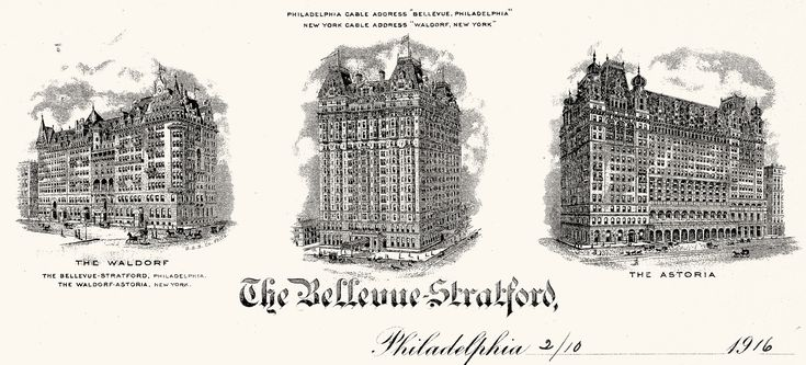 I've always loved this place...The Bellevue-Stratford Hotel