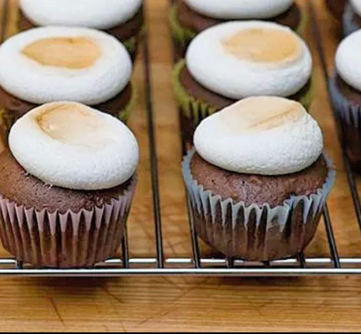 recetas de cupcakes: Glaseado de malvavisco fácil y rapido