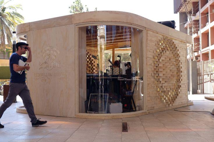 Verónica Arcos Designs Pop Up Radio for GAM Cultural Center in Santiago
