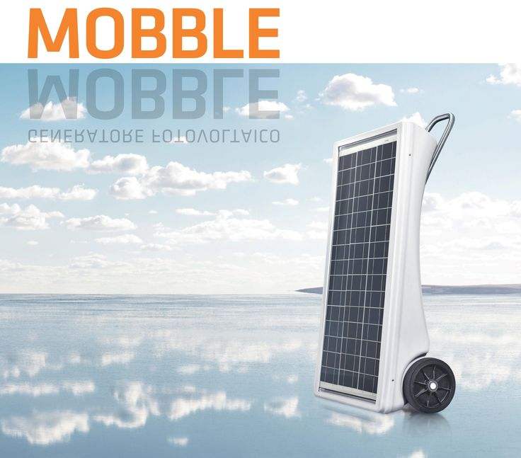 Mobble is a portable solar charger that can supply all the energy your portable (or mobile) devices need, wherever you are.