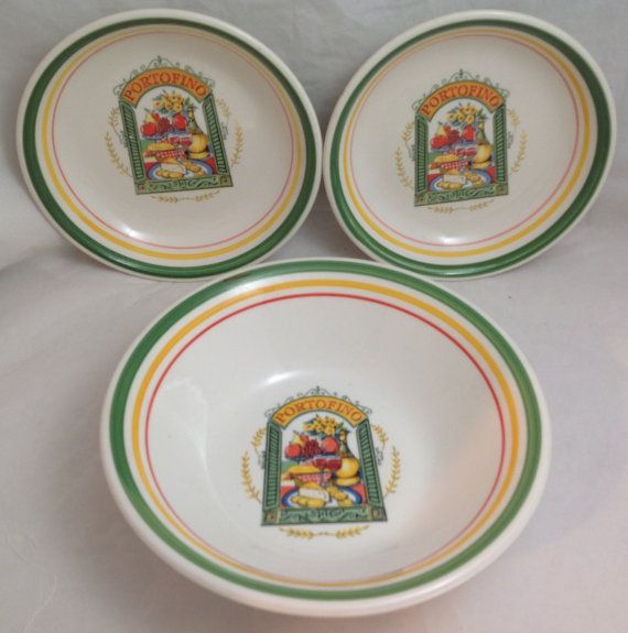 Portofino Italian Pasta Bowls Pasta for Two Serving by NAWTIEHOPE