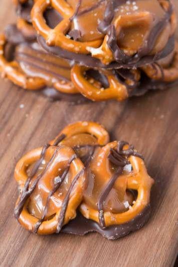 Salted Caramel Pretzel Snaps