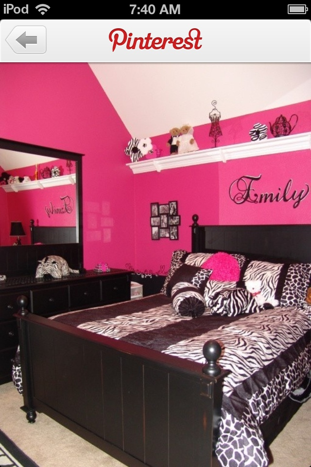 Pink And Black Zebra Bedroom Designs Decorating Ideas Rate My