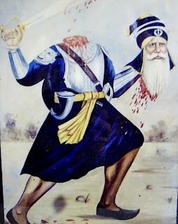 Baba Deep Singh Ji is one of the greatest examples of how a Saint Soldier should lead their lives. He epitomised every aspect of being a Saint Soldier, and today due to his actions and conduct he is rightly remembered as one of the most honoured martyrs in Sikh history. He was a GurSikh who fought the enemy even with a severed head. Those images amazed me as a youngster, and i'm sure the youth of today still look upto heroes such as Baba Deep Singh Ji