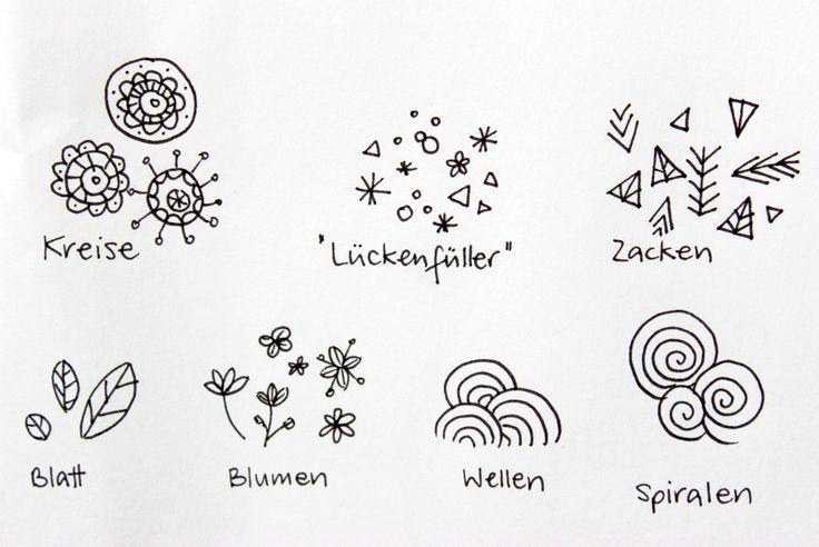 Die besten 25+ Zentangle muster Ideen auf Pinterest