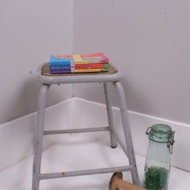Children's Vintage Stackable Metal Legged Stool | Get The Look | Warehouse Home Design Magazine