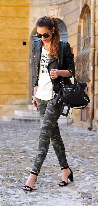 I'm a dork, but I still love the camo look and these leggings are DARLING!