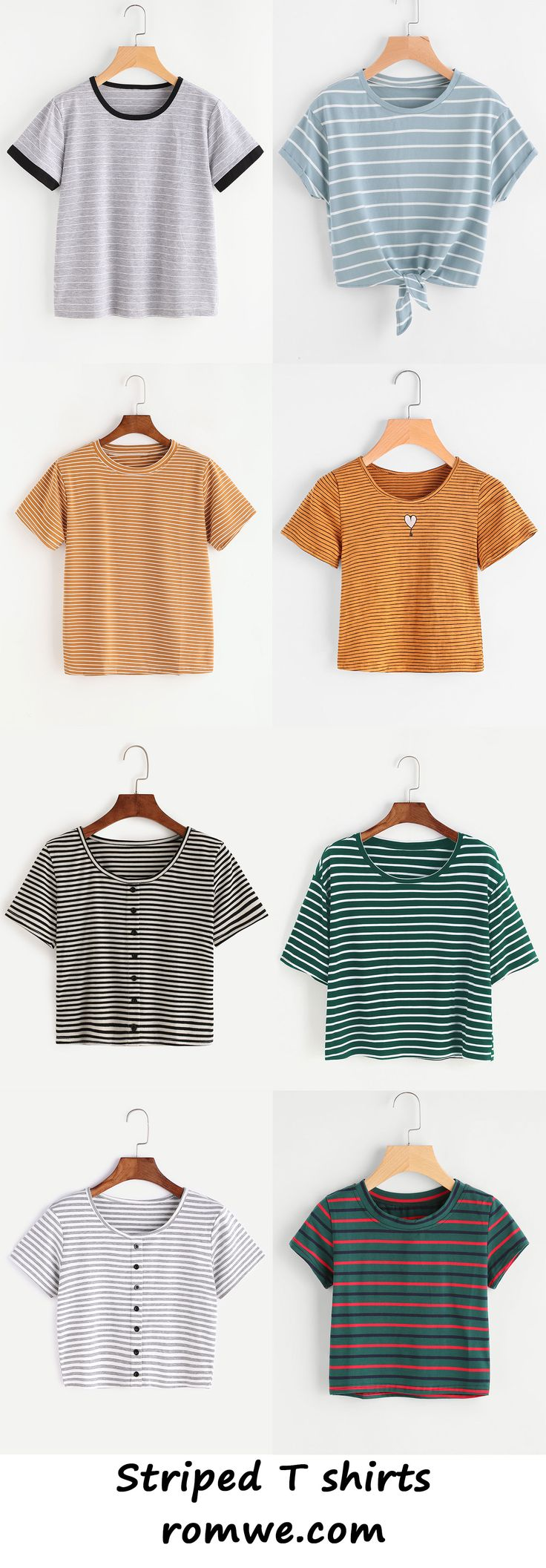 striped t shirts collection 2017 - romwe.com