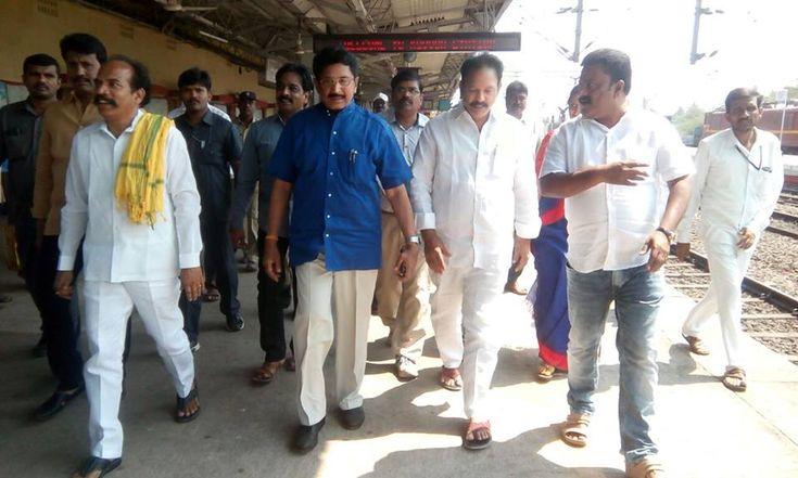 Kovvur : Local Kovvur railway station development works are reviewed by MP Sri. Maganti Murali Mohan, Minister Sri K.S. Jawahar, Kovvur Municipal Chairman Sri Radharaani and party leaders. #TDP #politicstoday #Politics #muralimohan