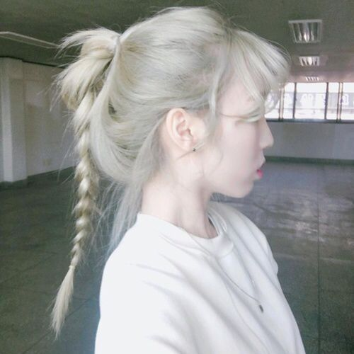 silver grey white hair