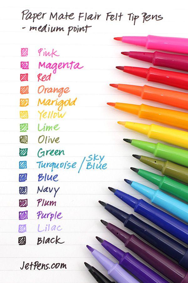 Paper Mate Flair Felt Tip Pen - Medium Point - 16 Color Set - SANFORD 70644 $22.00