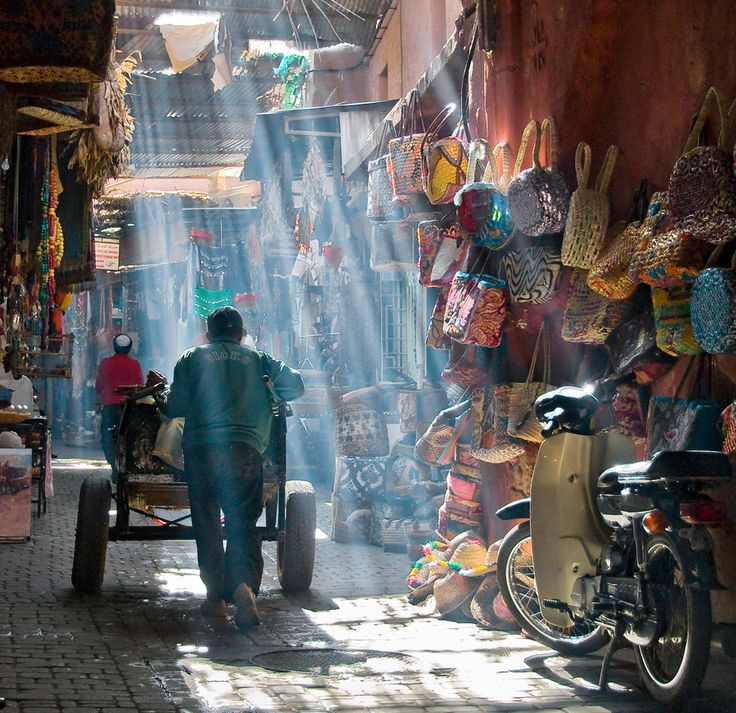 Colours of Marrakech. Light and colours in the Medina of Marrakech or Marrakesh, Morocco can be fantastic for photography. Photo by Daniel Bosma