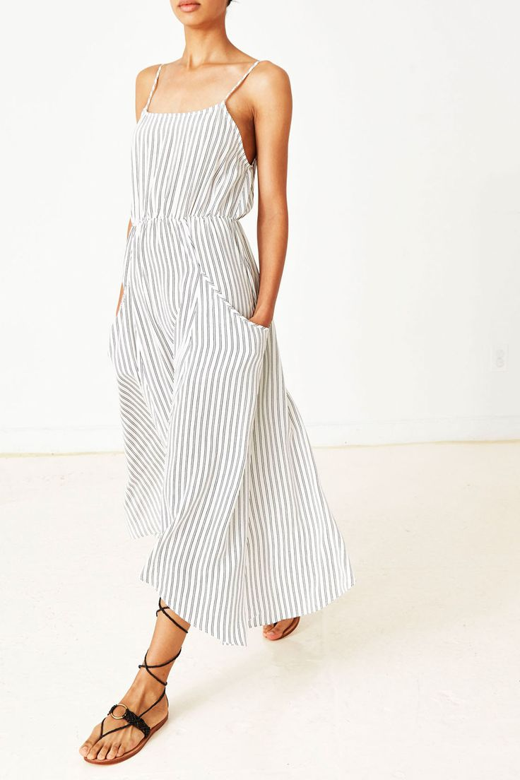 Joelle Dress | Ulla Johnson | Striped maxi dress