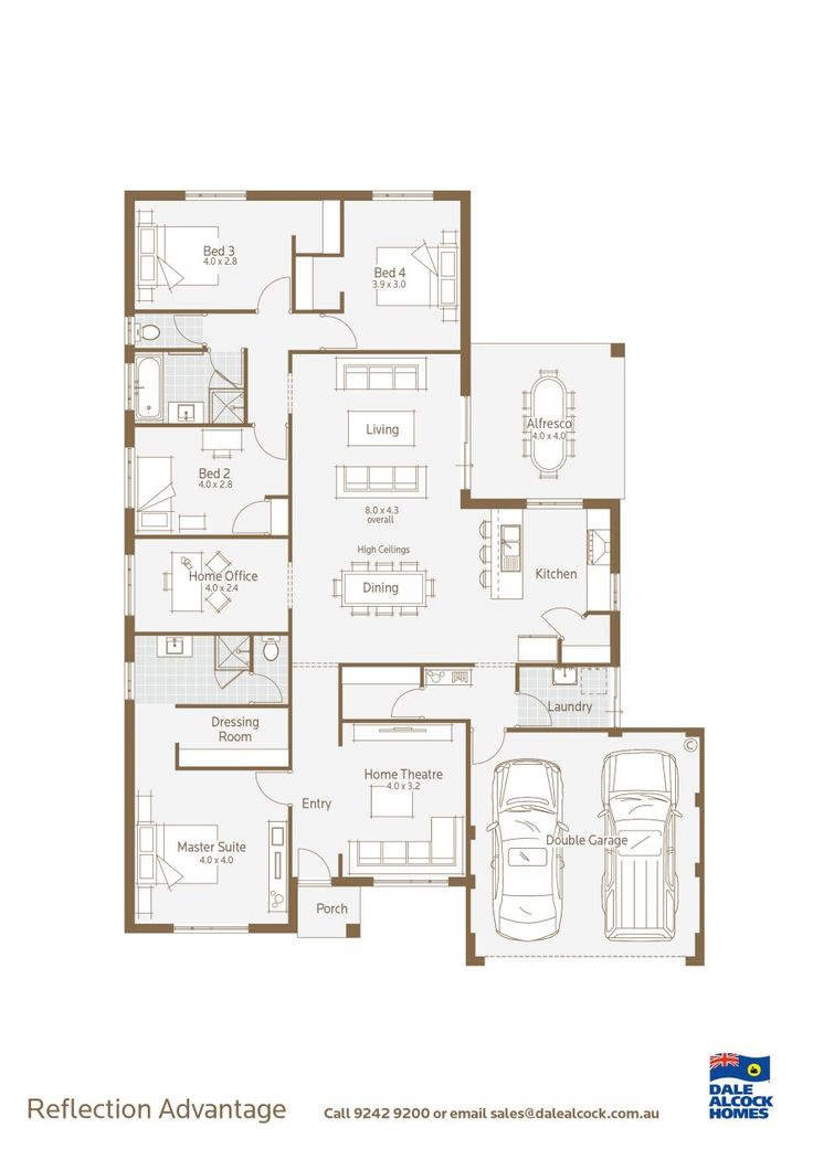 Reflection Floorplan - laundry garage drop zone area. this will fit on our block i think.