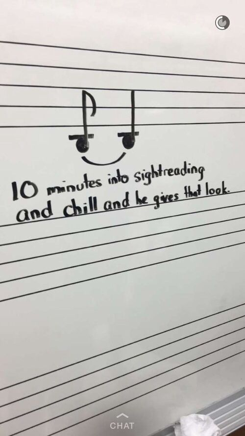 Sightreading and chill