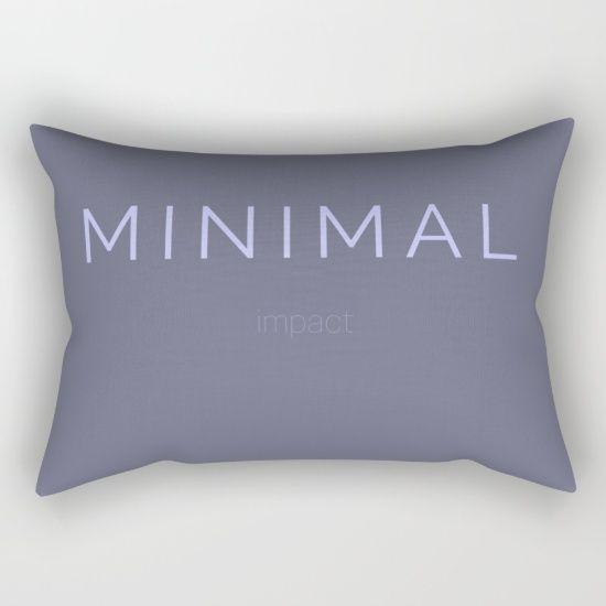 Minimal Impact: A worthy life goal. #minimalism #homedecor #cushion #purple