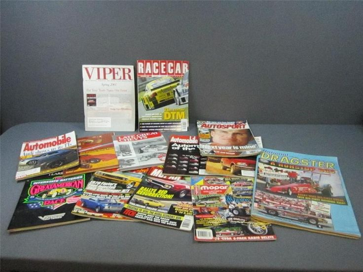 Lot Of 13 Car Magazines Various Titles And Various Years Viper Race Car & More  #carmagazines #magazines #viperracecar