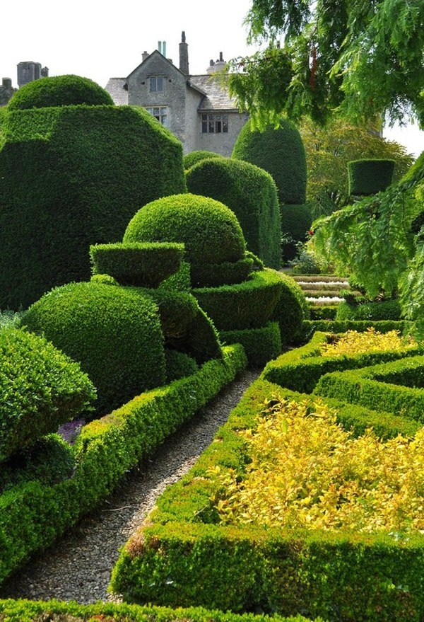 Levens Hall Garden - inspiration for the garden at Stortford House
