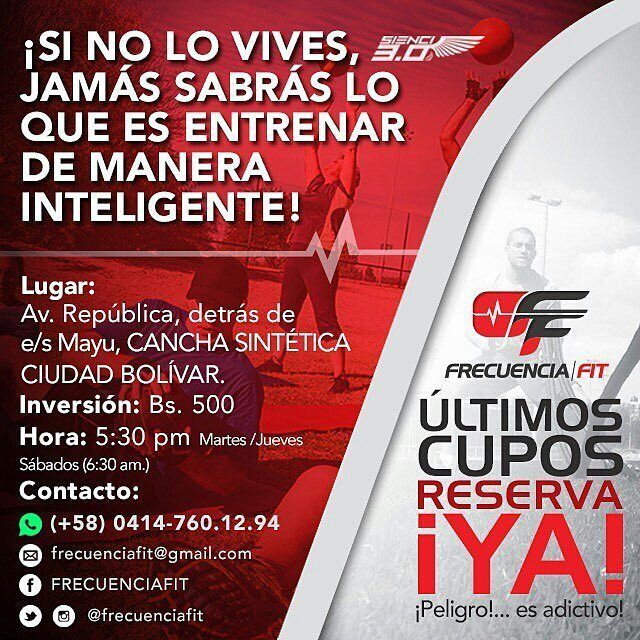 No se lo pueden perder! !  @Regrann from @frecuenciafit -  RECUERDA USAR PROTECTOR SOLAR MAÑANA SÁBADO A LAS 6:30AM  LOS QUEREMOS APARTE DE SAN@S CON PIEL BONITA  #piel #cuidado #fitness #voluntad #sabado #mañana #ciudadbolivar #cdbolivar #bolivar #actitud #entrenamiento #inteligente #Regrann