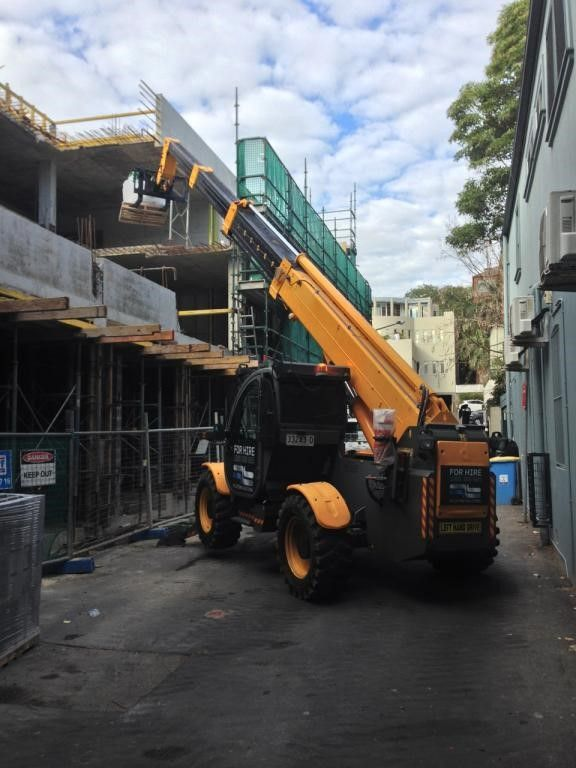 Our operated hire machine in action. Call to book this machine in on your site 1300 300 605