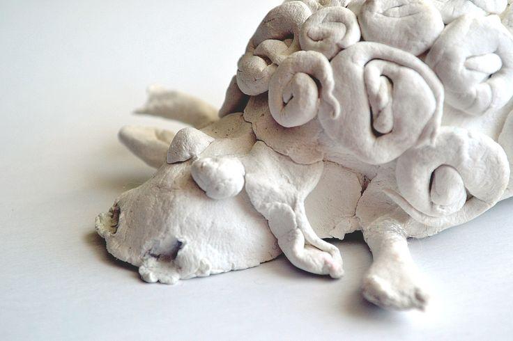 clay sheep made by kid