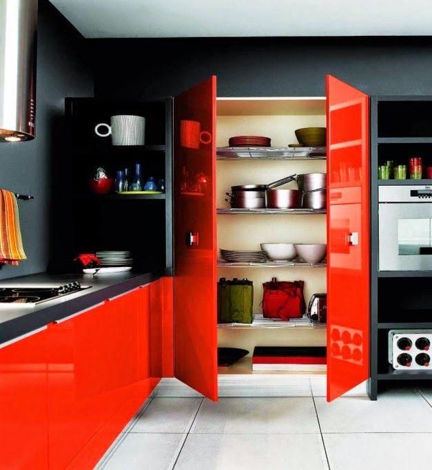 Desain Interior Dapur Dengan Furnitur Mewah Mengkilat | Griya Indonesia