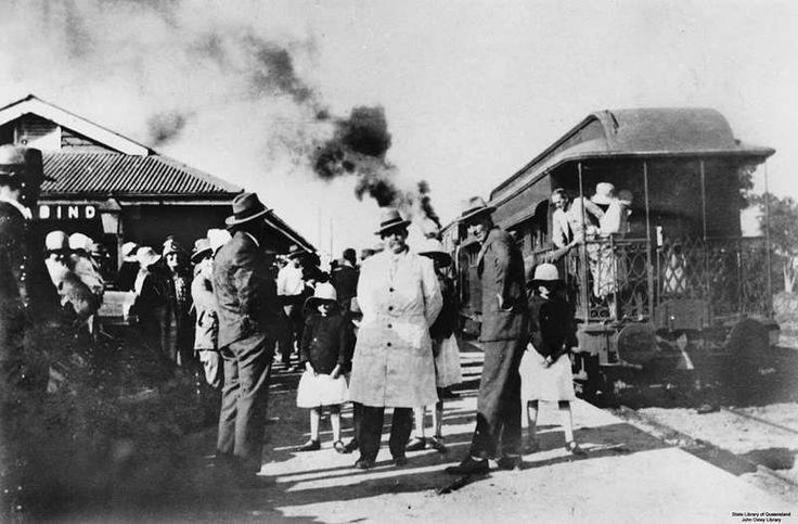 Babinda. Stanley Bruce, Prime Minister, at Babinda Railway Station 1928