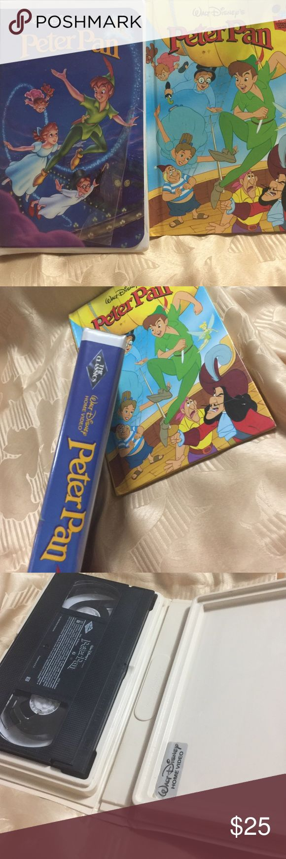 Black Diamond Walt Disney VHS Peter Pan & Book Classic and collectors item Black Diamond Peter Pan VHS and a book in EUC to go with it.  Don't miss this item!!!! Walt Disney Other