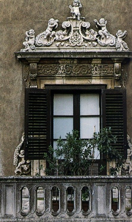 window in Palermo,Sicily - So dramatically beautiful...